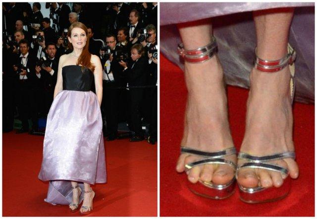 7f1582c855 Ecco la bella rossa sul red carpet di Cannes alla première de Il Grande  Gatsby: lei splendida in un abito lilla e nero e i suoi piedi strizzati in  un paio ...