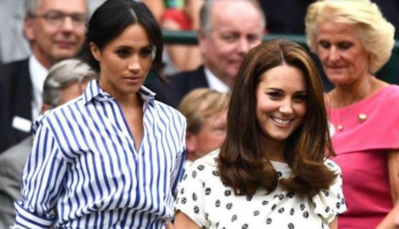 3543c1d57e Kate Middleton e Meghan Markle, che stile a Wimbledon. Ma alla finale,  cambio! E 'lei' si è presa tutta la scena