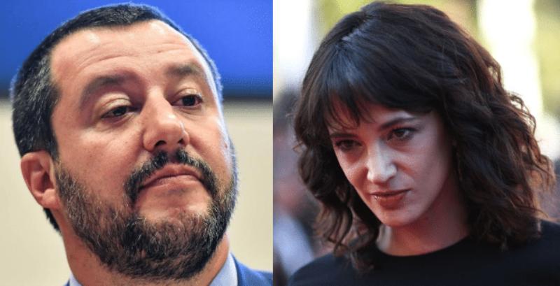 Caso Asia Argento, l'intervento a sorpresa di Matteo Salvini. Le parole del ministro dell'Interno
