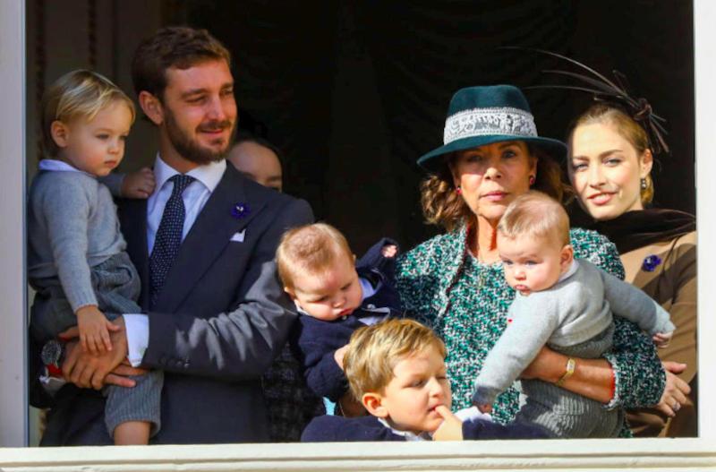 Stefano Casiraghi debutta sul balcone del Principato di Mona