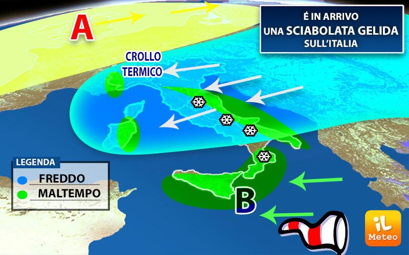 Arriva 'Attila', gelo e temperature in picchiata in Italia.