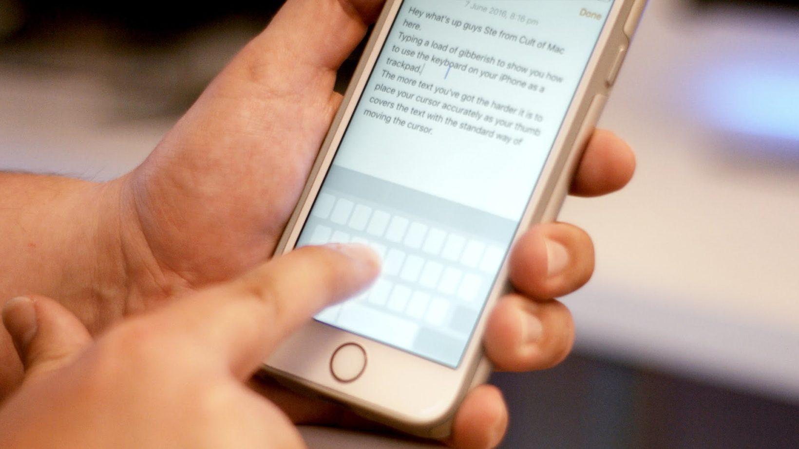 Correggere testo su iPhone