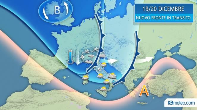 Meteo: arriva la neve sull'Italia anche in pianura. La situa
