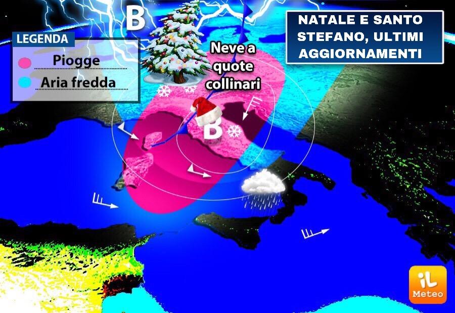 Meteo, ecco le previsioni per 24, 25 e 26 dicembre