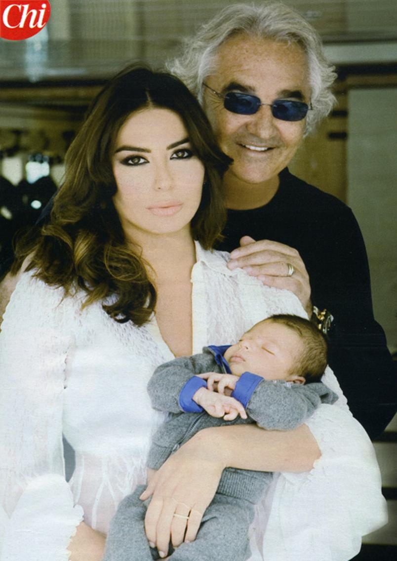 Flavio Briatore ed Elisabetta Gregoraci insieme per il figli