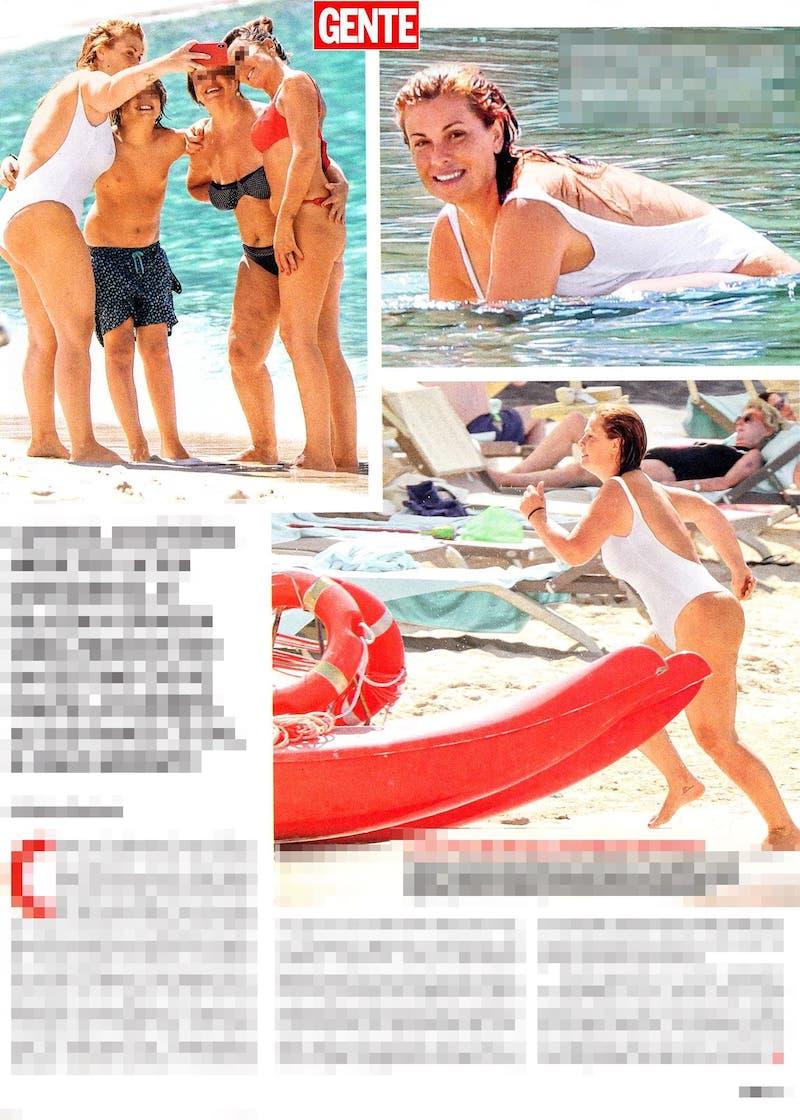 Calendario Vanessa Incontrada.Vanessa Incontrada In Bikini Al Mare Col Figlio Isal
