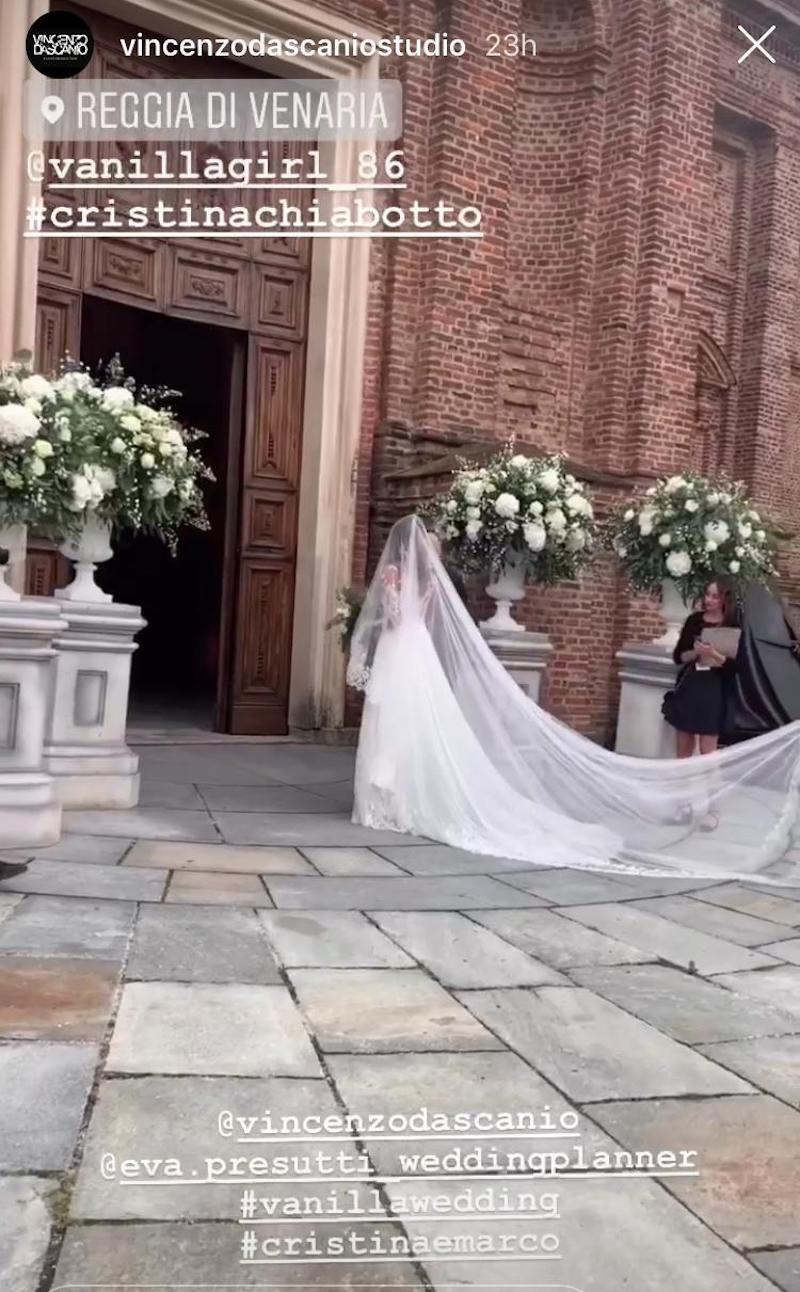 Cristina Chiabotto sposa principessa. Un sogno: le foto più
