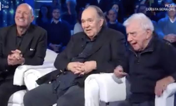 L'entrata a sorpresa di Giampiero Galeazzi a Domenica In com