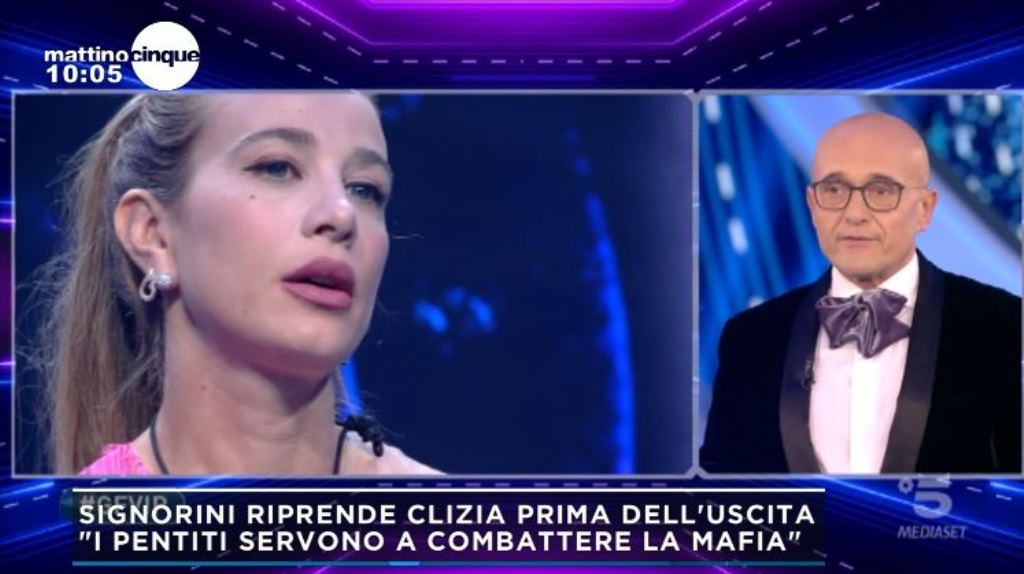 """Federica Panicucci blocca l'ospite (in diretta): """"Questo non"""