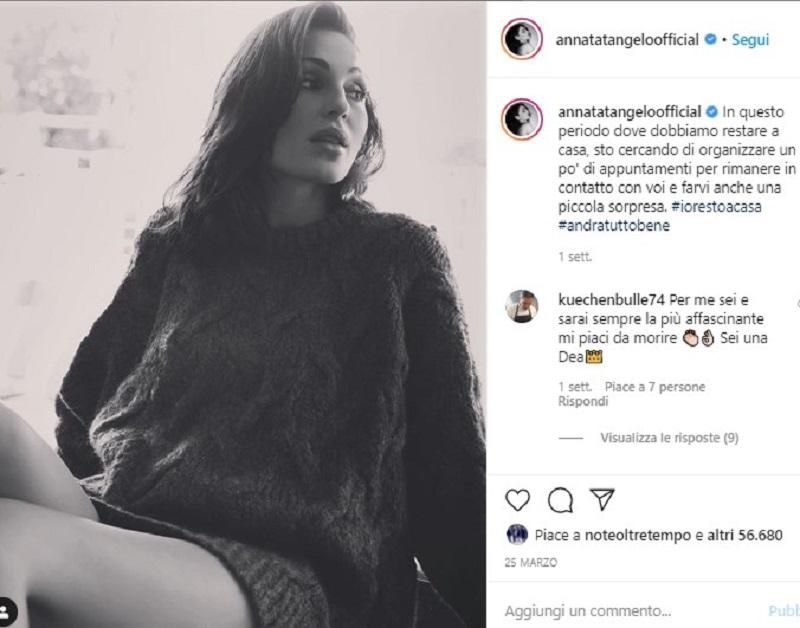 """""""Una meraviglia"""". Anna Tatangelo è irresistibile: si present"""