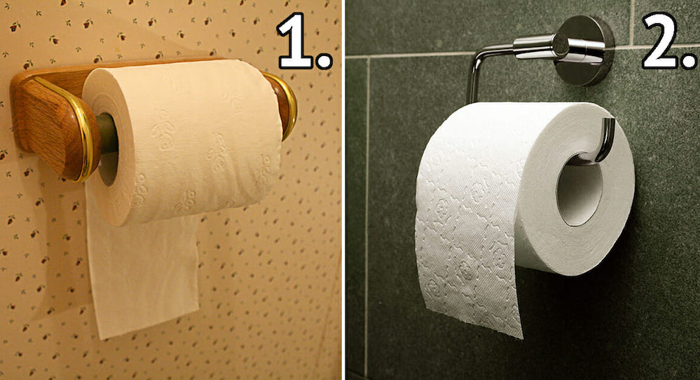 La carta igienica va srotolata dal basso o dall'alto? Ecco il verso corretto per usarla