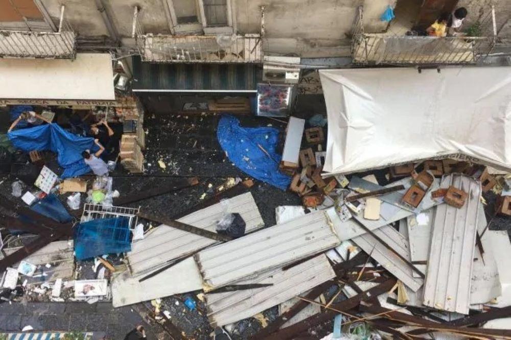 Violentissimo nubifragio sulla città: crolli, feriti e paura tra gli abitanti. La situazione