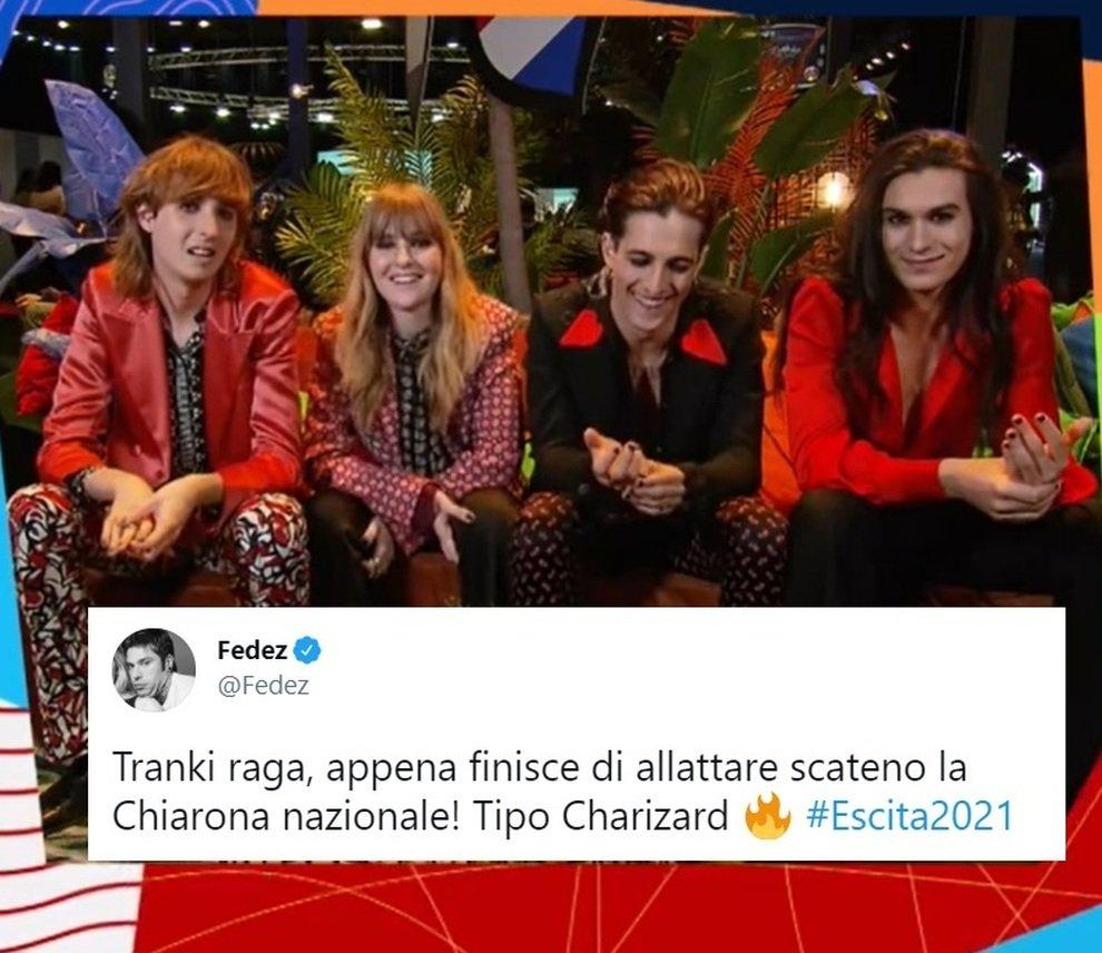 Chiara Ferragni maneskin eurovision