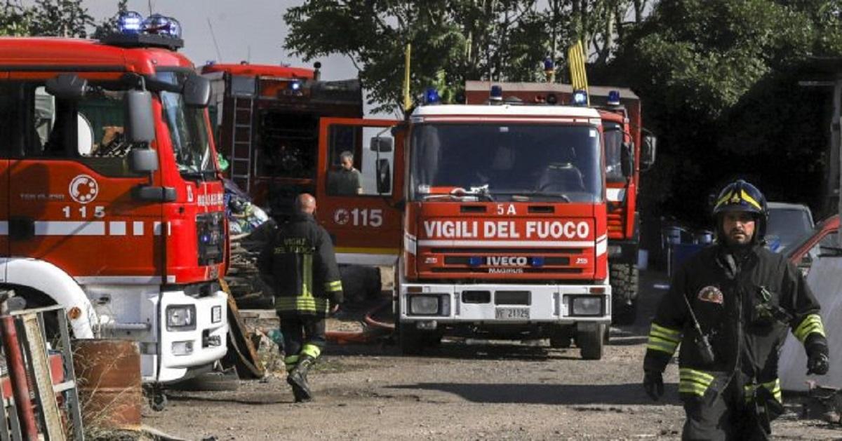 vigili del fuoco incidente pavia
