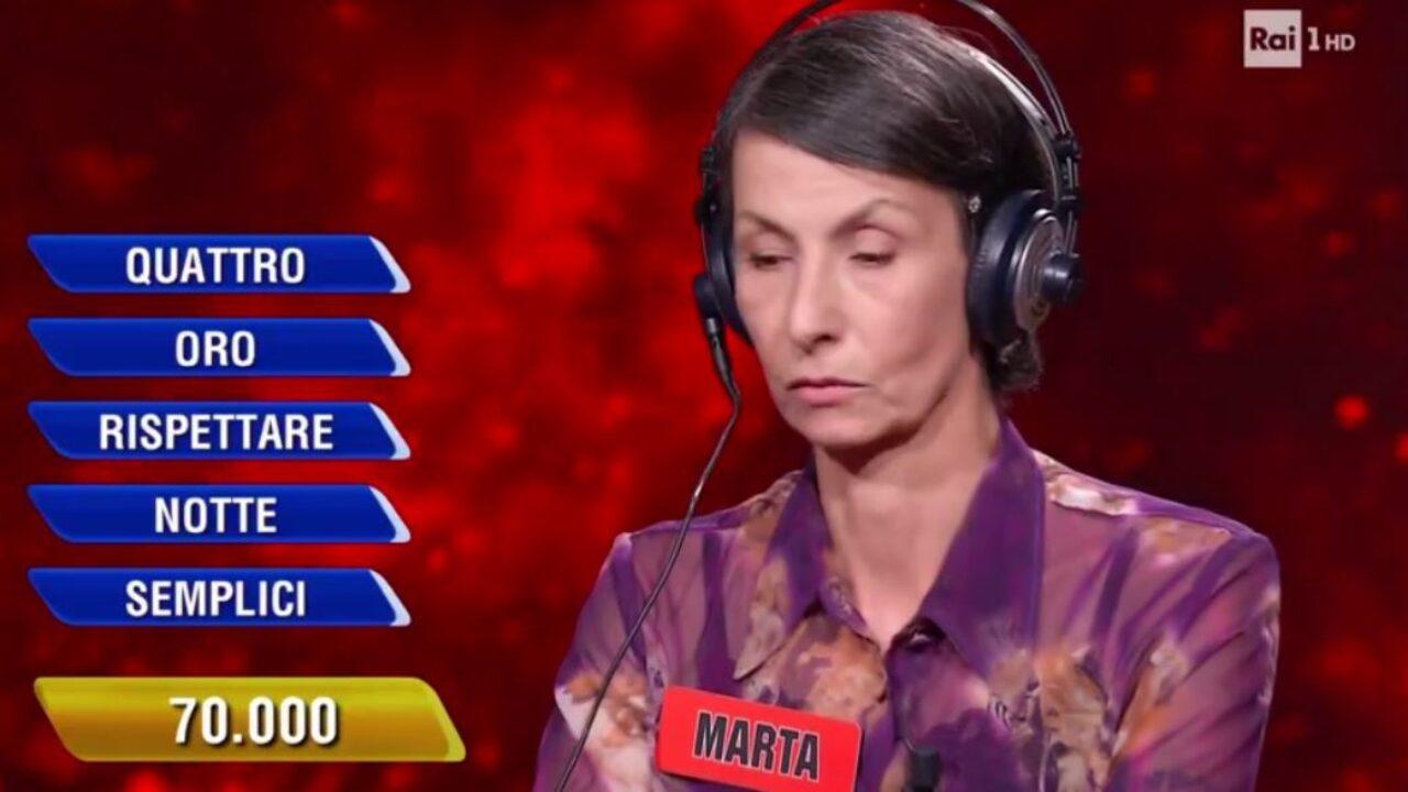 Marta l'eredità scaramanzia