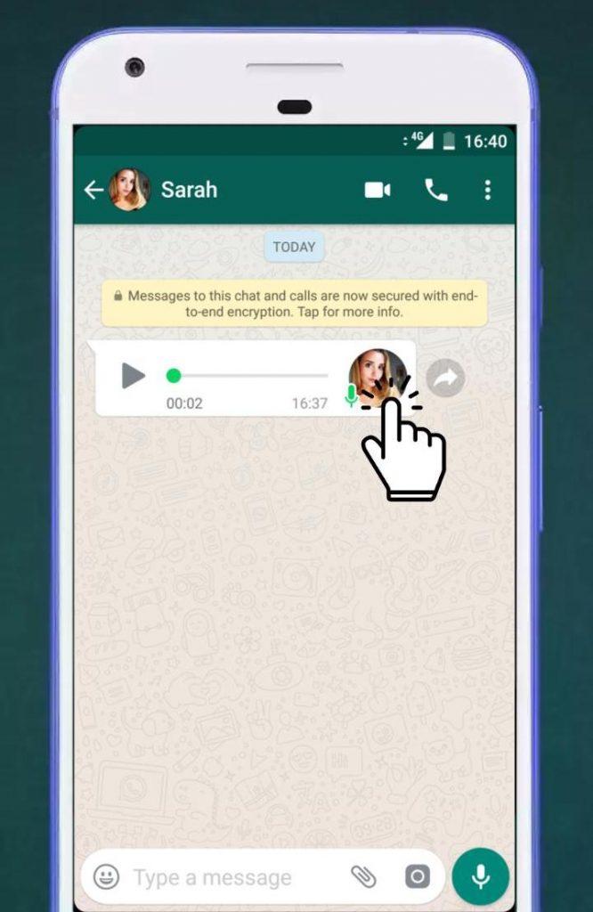 whatsapp audio x2