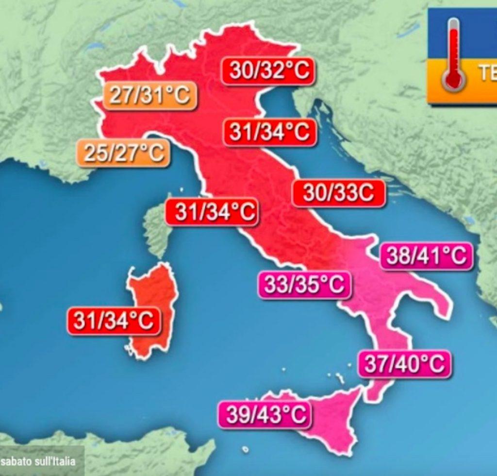 caldo meteo fine giugno 2021