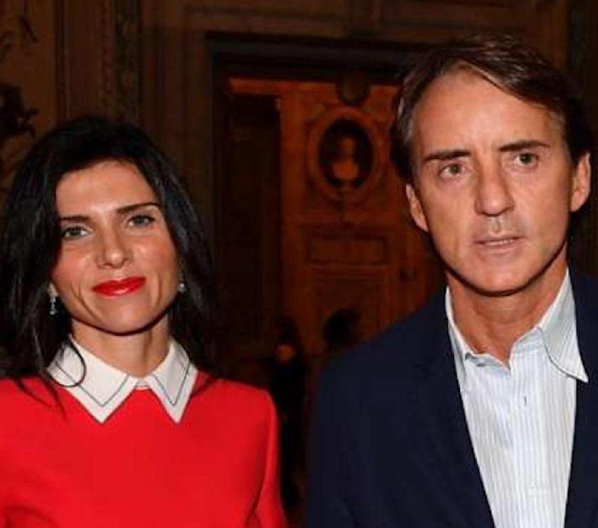 Roberto Mancini seconda moglie Silvia Fortini