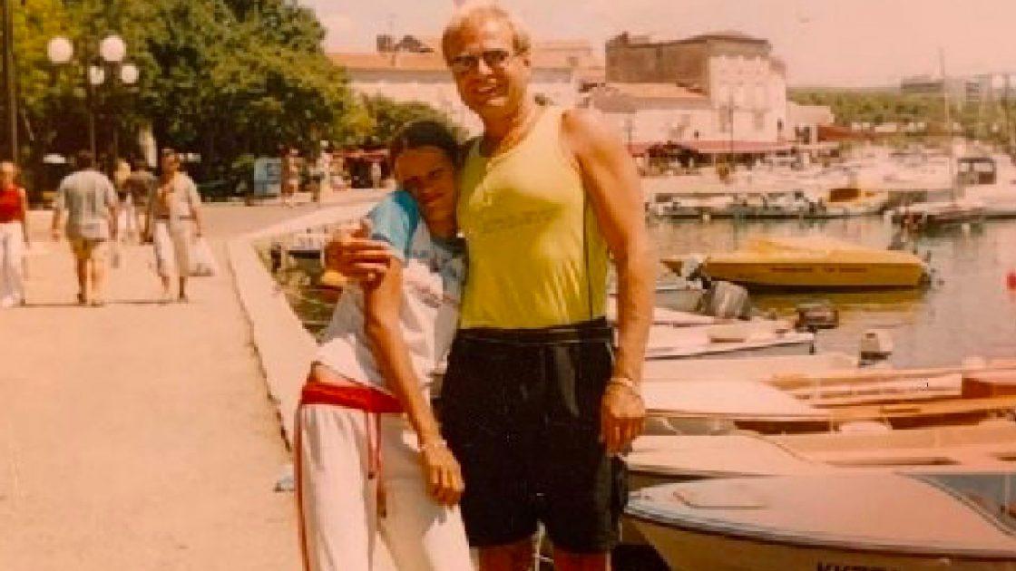 Ivana Mrazova, la foto insieme al papà