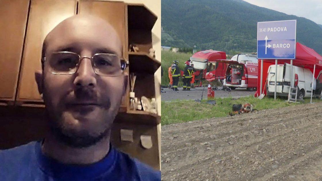 Stefano Favaro, morto nello schianto frontale con un camion