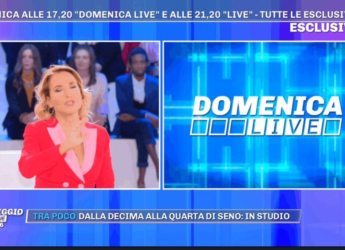 Barbara D'Urso Domenica Live Perché è stato cancellato Pier Silvio Berlusconi