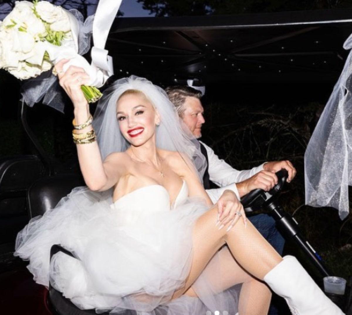 Gwen Stefani Matrimonio Blake Shelton Foto