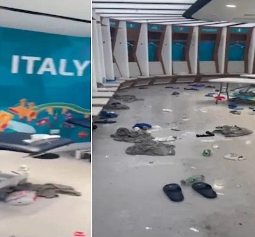Italia spogliatoio sporco wembley