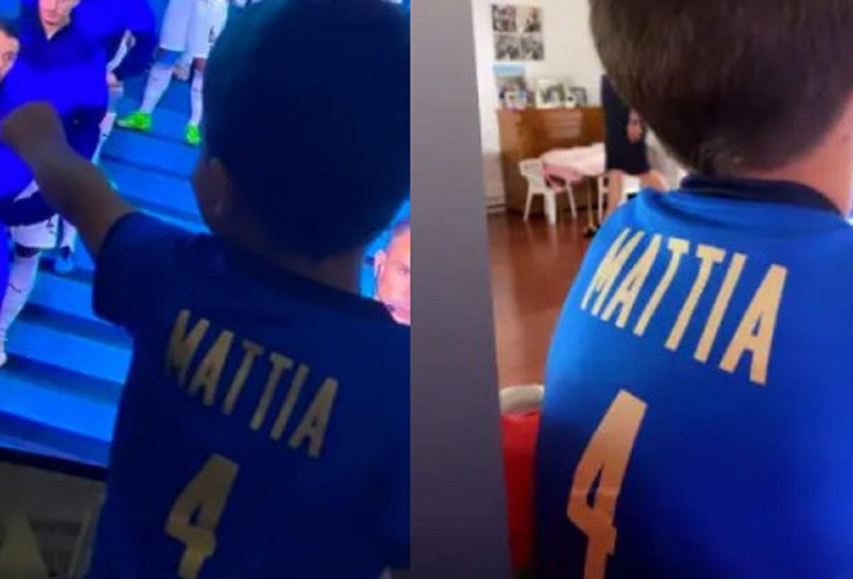 Leonardo Spinazzola famiglia Mattia figlio Euro 2021 Italia-Belgio