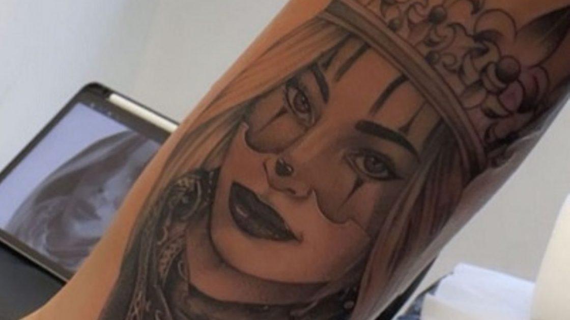 chiara nasti nuovo tatuaggio ritratto