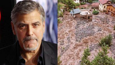 George Clooney, il maltempo a Como è devastante