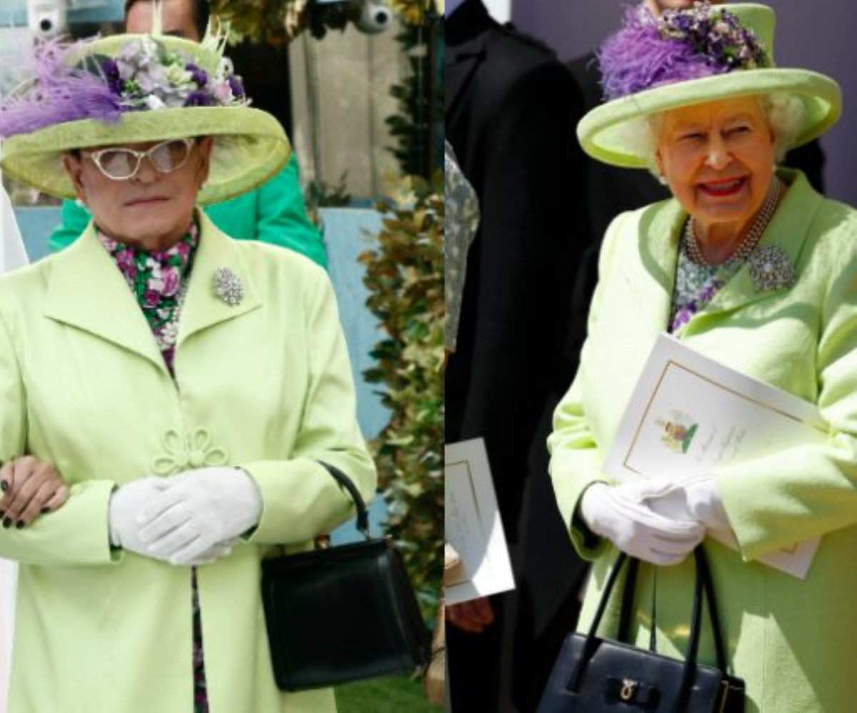 cristiano malgioglio look regina elisabetta