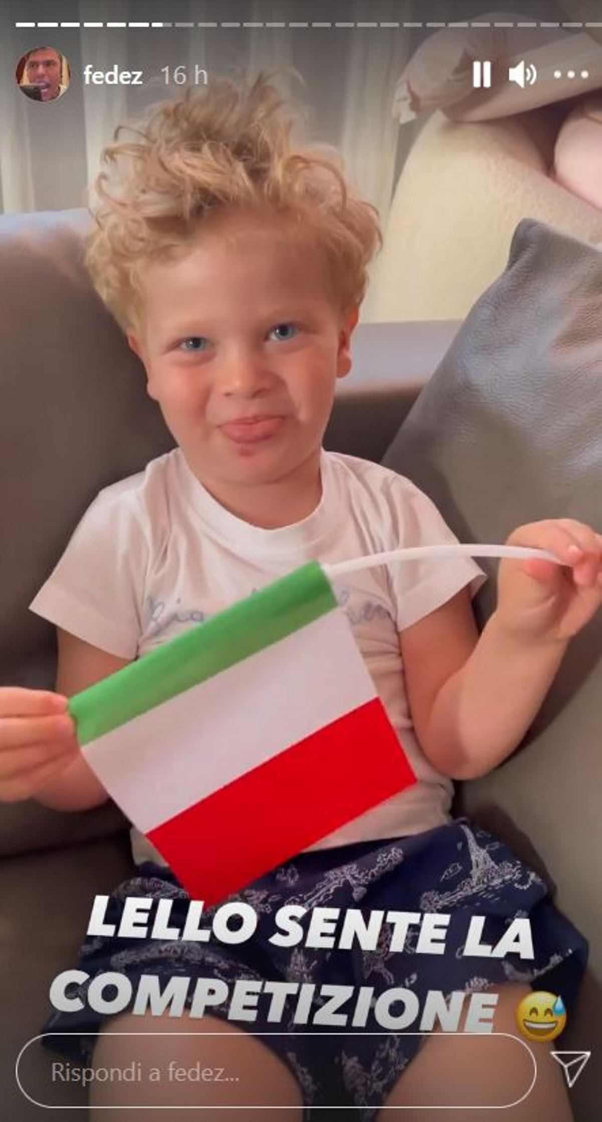 Fedez Chiara Ferragni il figlio Leone finale Euro 2020