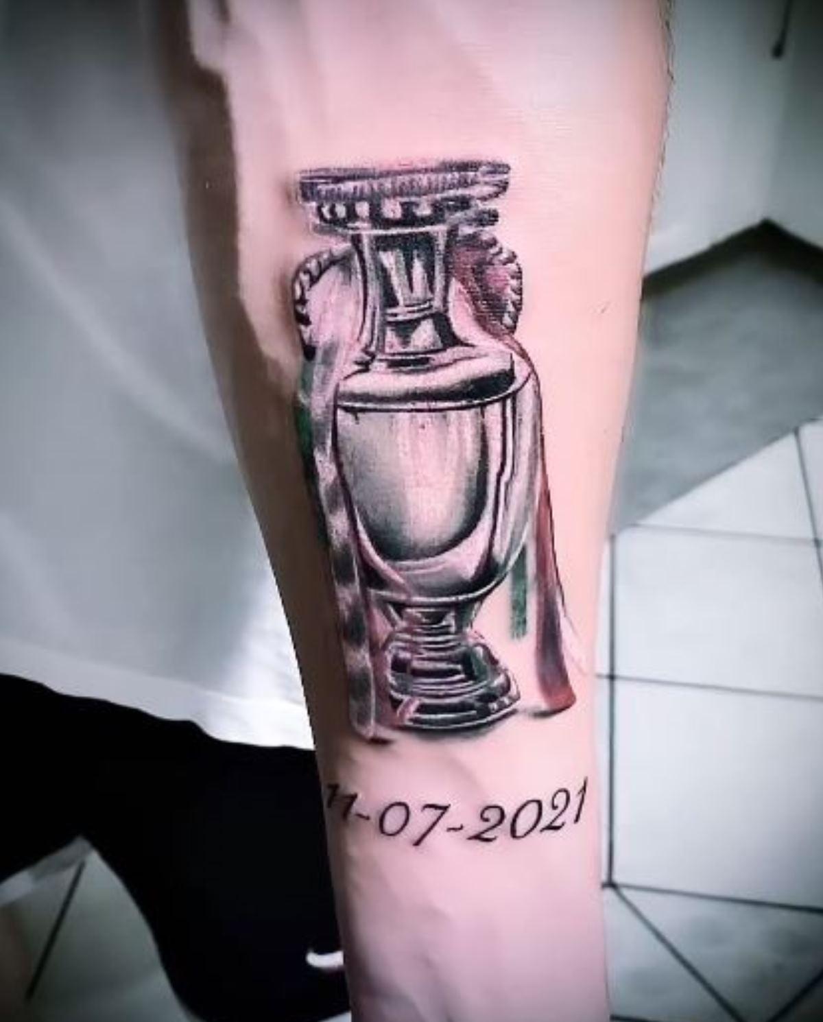 gigio donnarumma tatuaggio europei