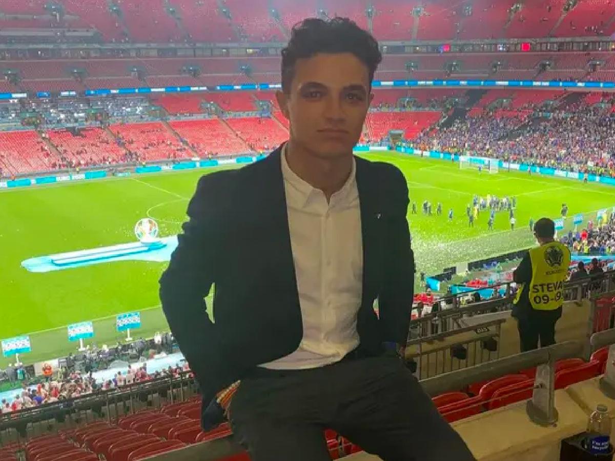 Lando Norris rapinato a Wembley finale Euro 20 Italia Inghilterra