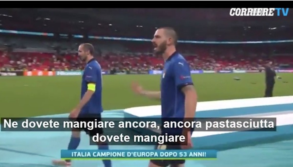 leonardo bonucci gesto mano dopo gol