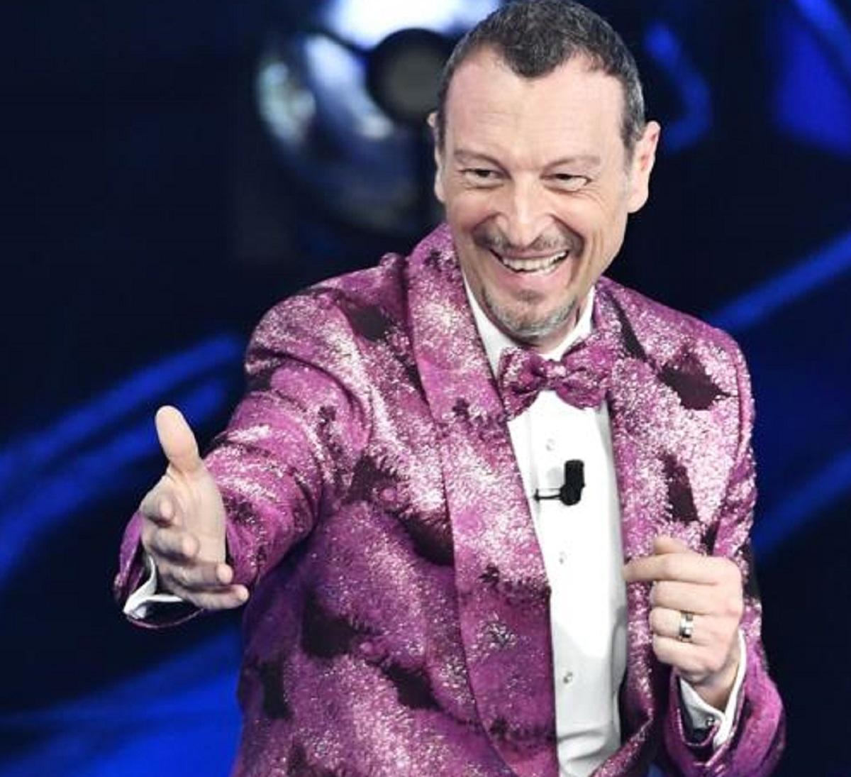 Amadeus Sanremo 2022 indiscrezione co-conduttore Marcell Jacobs