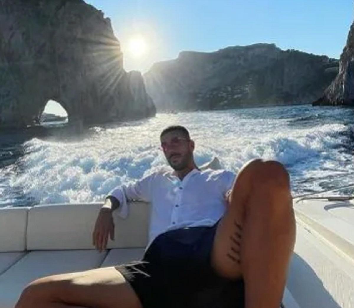 Chiara Nasti Zaccagni flirt foto vacanza Capri