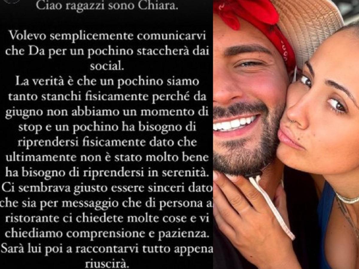 Davide Donadei Chiara Rabbi annuncio choc fan