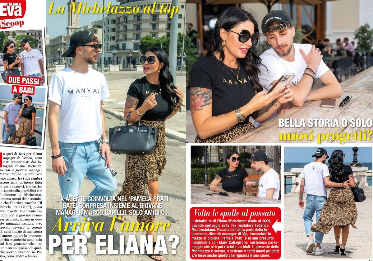 Eliana Michelazzo nuova fiamma paparazzata Marco Capillo