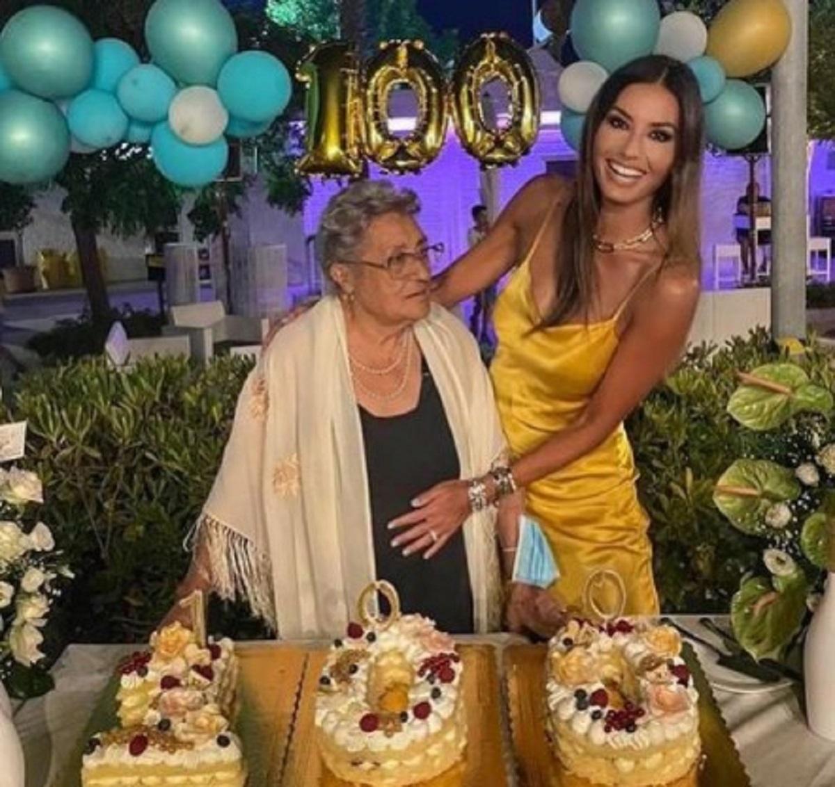 Elisabetta Gregoraci compleanno nonna 100 anni