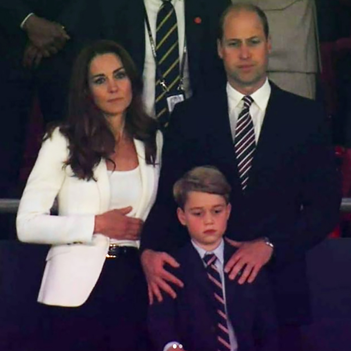 Principe George Furia William Kate Middleton Cartone Animato Satirico