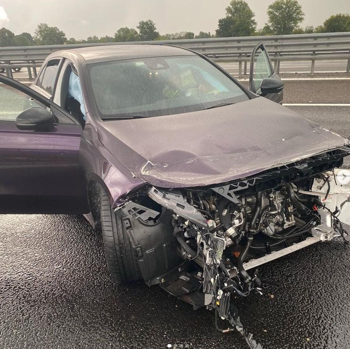 Tedua Cantante Incidente Autostrada Rischio Morte