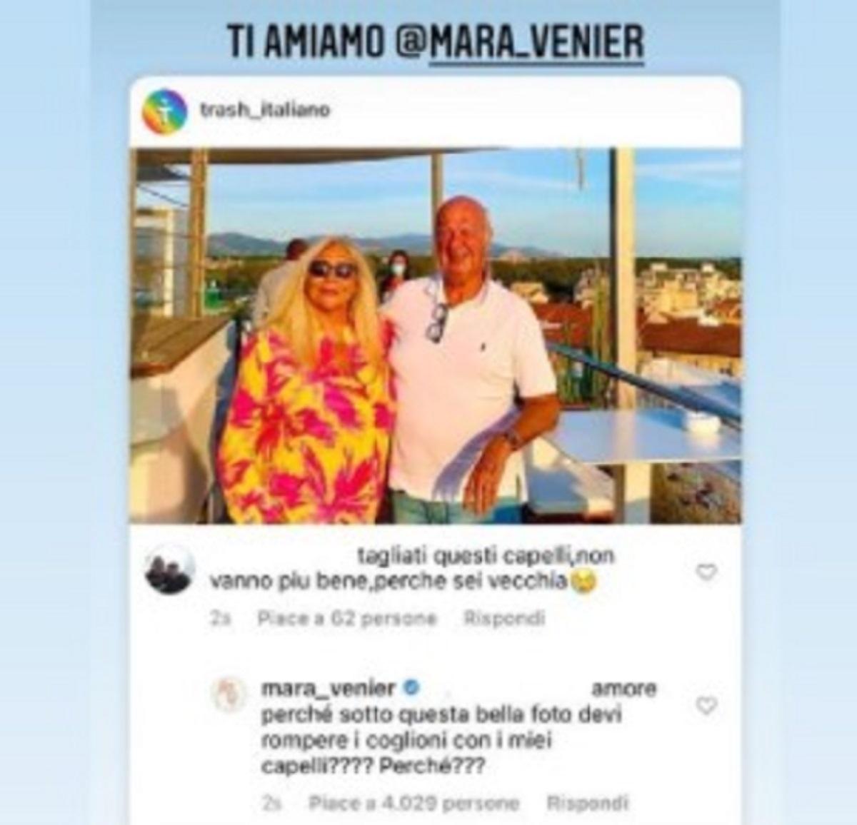 Mara Venier replica epica critica capelli