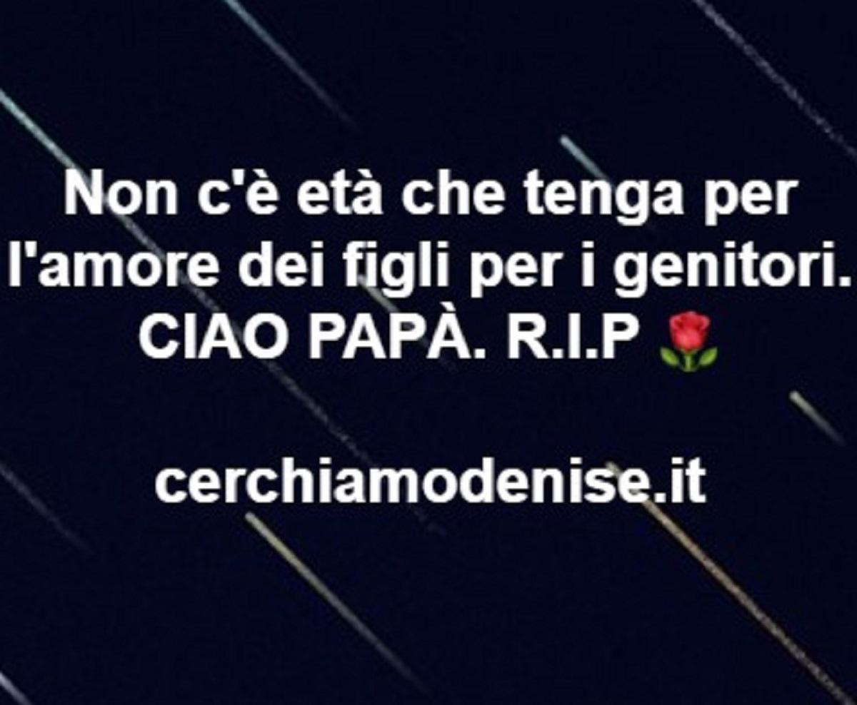 Denise Pipitone lutto Piera Maggio nonno morto