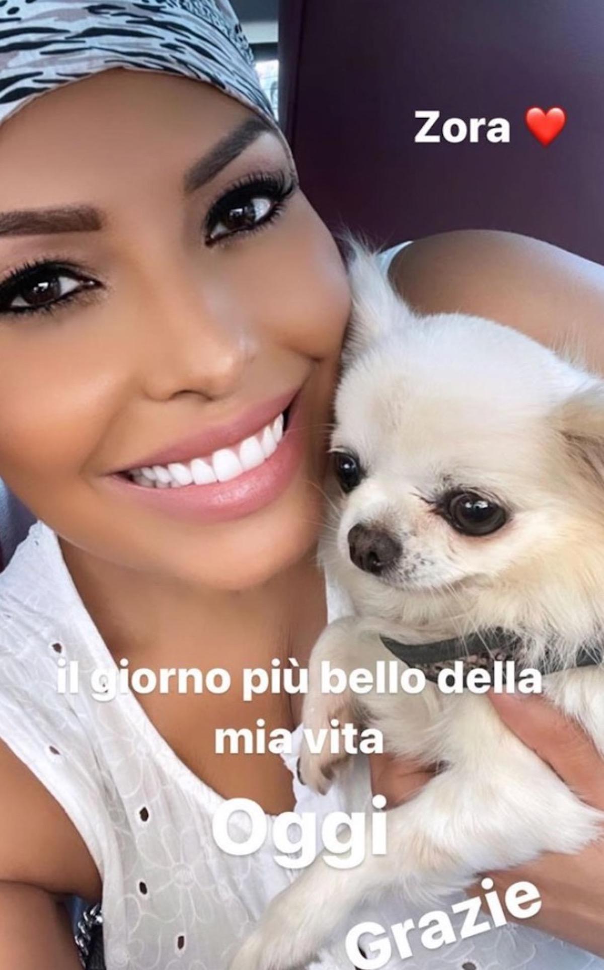 Carolina Marconi cane zora ritrovato