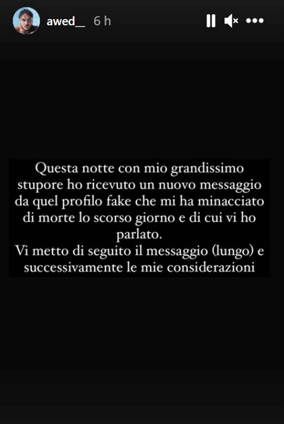 awed minacce messaggio autrice
