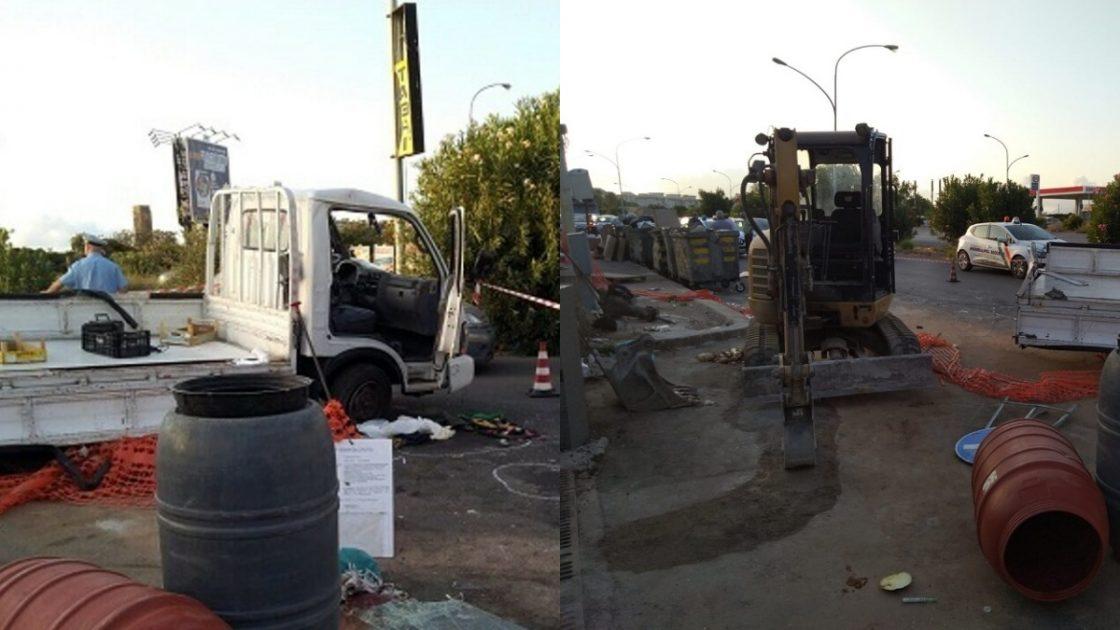 Morto Francesco Paolo Randazzo: col furgoncino contro un escavatore