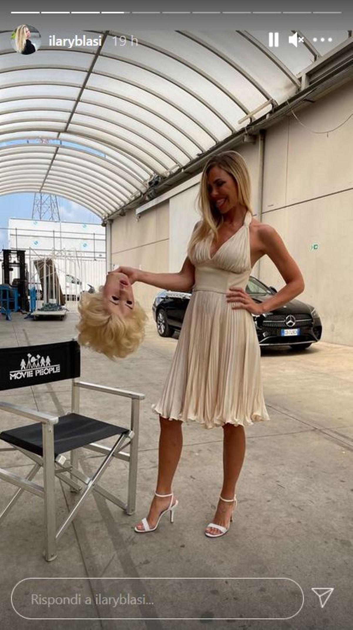 Ilary Blasi come Marilyn Monroe