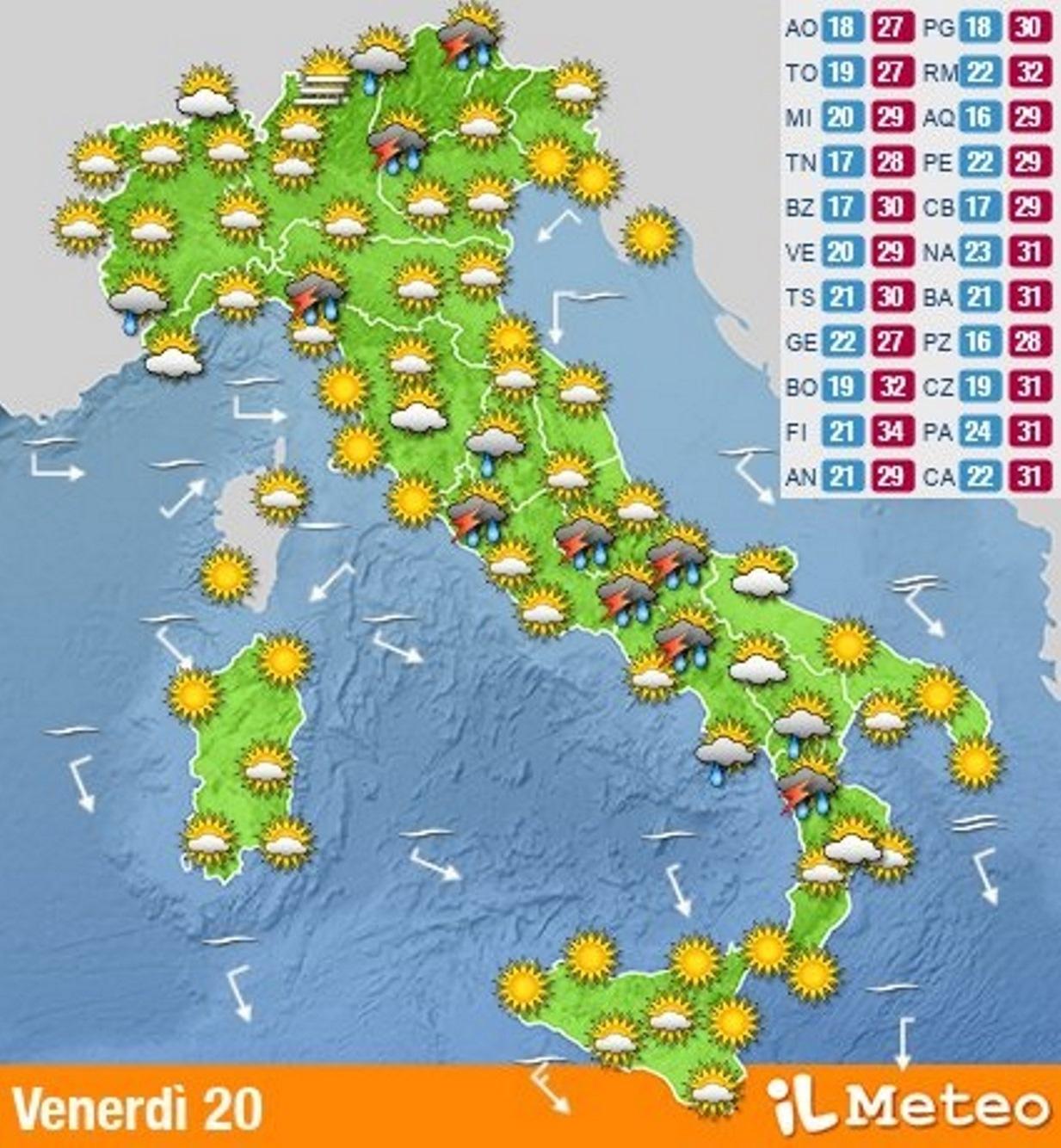 meteo week end caldo
