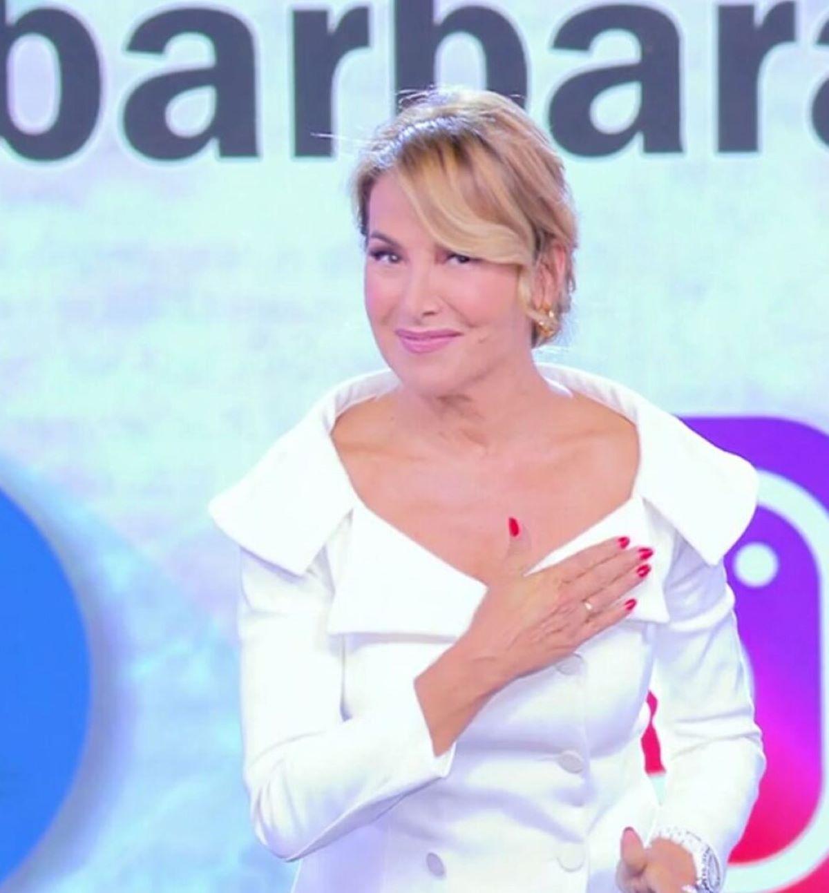 Barbara D'Urso Ospite Pomeriggio Cinque Tensione